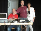 Yvonne, Andy und der DJ (ich), Yvonne, Andy and the DJ (me)