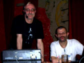 Wir (Kurt und Ralf) machten die Musik und den Workshop/ we (Kurt & Ralf) are DJ-ing and giving workshops